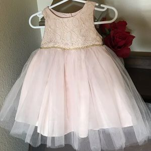 Pink with Gold Stitching dress
